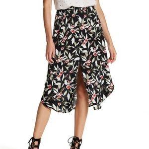H.I.P. Floral Midi Skirt